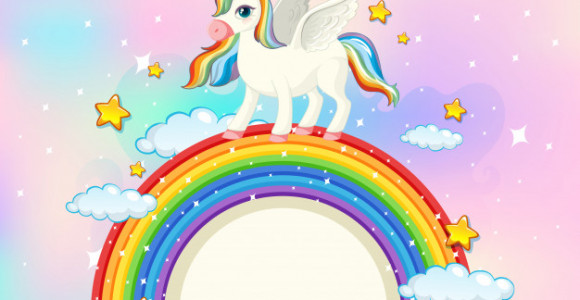 blank-banner-with-cute-unicorn-pastel-sky-background_1308-45955