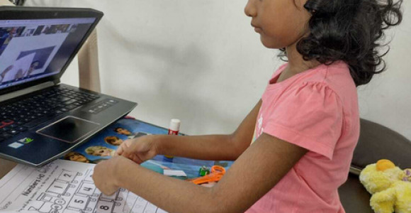 Preschool learning activities in the home based learning program